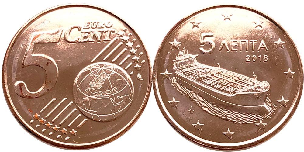 5 евроцентов 2018 Греция UNC