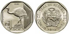 1 соль 2018 Перу — Фауна Перу — Дарвинов нанду UNC