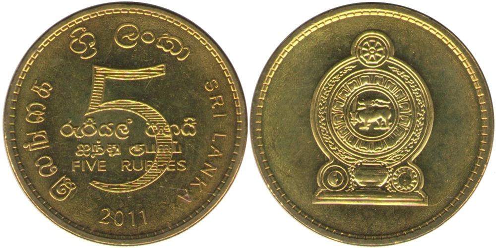 5 рупий 2011 Шри-Ланка