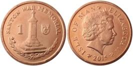 1 пенни 2015 остров Мэн UNC