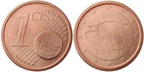 1 евроцент 2018 Эстония UNC