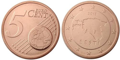 5 евроцентов 2018 Эстония UNC