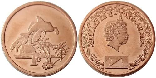 1 цент 2012 Токелау UNC