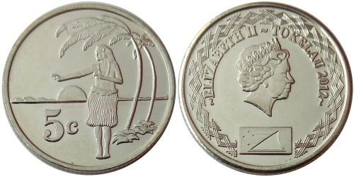 5 центов 2012 Токелау UNC