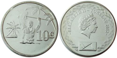 10 центов 2012 Токелау UNC