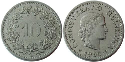 10 раппен 1990 Швейцария