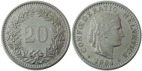 20 раппен 1991 Швейцария