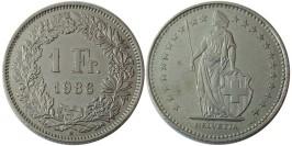 1 франк 1986 Швейцария