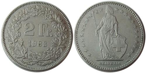 2 франка 1983 Швейцария