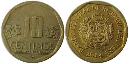 10 сентимо 2014 Перу