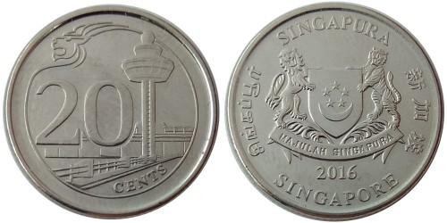 20 центов 2016 Сингапур
