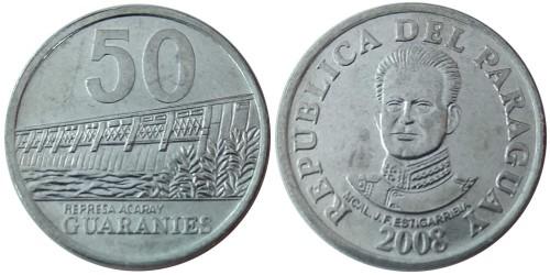 50 гуарани 2008 Парагвай