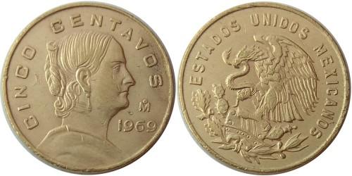 5 сентаво 1969 Мексика