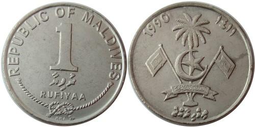 1 руфия 1990 Мальдивы