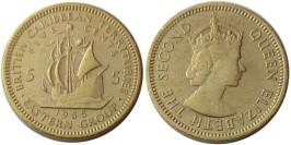 5 центов 1955 Восточные Карибы