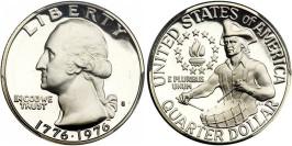25 центов 1976 S США — 200 лет независимости США — серебро
