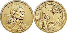 1 доллар 2019 P США UNC — Коренные Американцы — Индейцы в космической программе