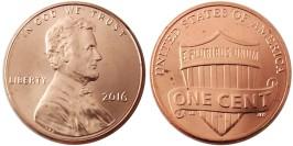 1 цент 2016 США UNC