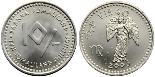 10 шиллингов 2006 Сомалиленд — Знаки зодиака — Дева