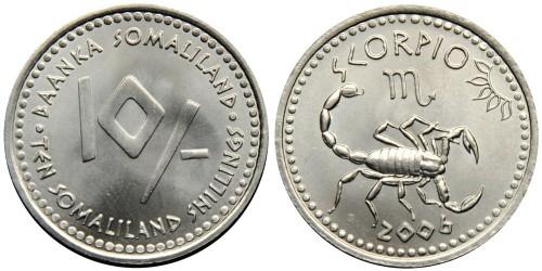 10 шиллингов 2006 Сомалиленд — Знаки зодиака — Скорпион