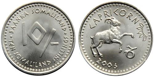 10 шиллингов 2006 Сомалиленд — Знаки зодиака — Козерог