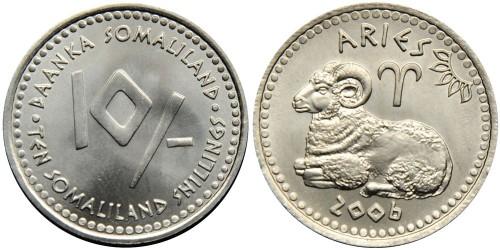 10 шиллингов 2006 Сомалиленд — Знаки зодиака — Овен