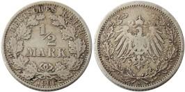 1/2 марки 1906 «A» Германия — серебро №2