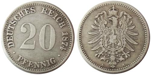 20 пфеннигов 1874 «А» — Германская империя