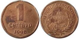 1 сентаво 1998 Аргентина