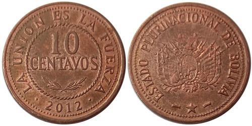 10 сентаво 2012 Боливия