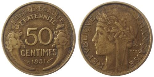 50 сантимов 1931 Франция
