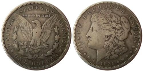1 доллар 1921 США — Доллар Моргана — серебро
