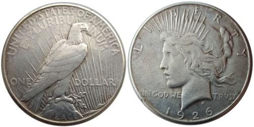 1 доллар 1926 S США — Peace Dollar — серебро