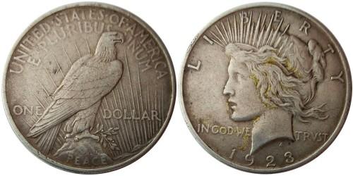 1 доллар 1923 США — Peace Dollar — серебро