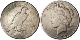 1 доллар 1922 S США — Peace Dollar — серебро