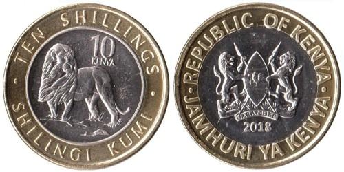 10 шиллингов 2018 Кения UNC