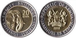 20 шиллингов 2018 Кения UNC