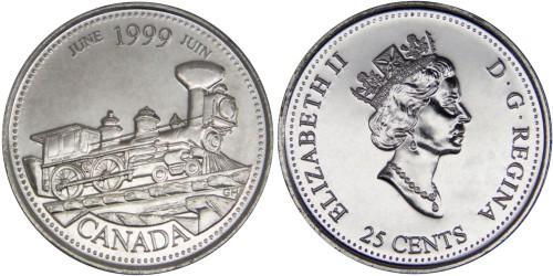 25 центов 1999 Канада — Миллениум — Июнь 1999, От побережья до побережья