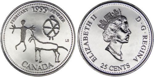 25 центов 1999 Канада — Миллениум — Февраль 1999, Запечатленные в камне