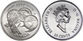 25 центов 1999 Канада — Миллениум — Январь 1999, Развитие страны