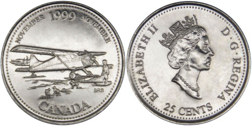 25 центов 1999 Канада — Миллениум — Ноябрь 1999, Авиасообщение с севером