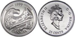 25 центов 1999 Канада — Миллениум — Октябрь 1999, Дань первым нациям