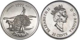 25 центов 1999 Канада — Миллениум — Август 1999, Дух первооткрывателей