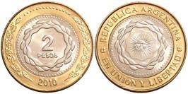2 песо 2010 Аргентина UNC