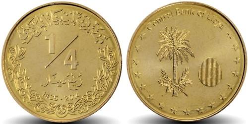 1/4 динара 2014 Ливия UNC