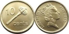10 центов 2010 Фиджи — Метательная дубинка ула тава-тава