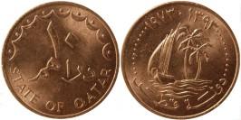 10 дирхамов 1973 Катар UNC