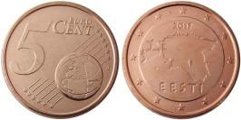 5 евроцентов 2017 Эстония UNC