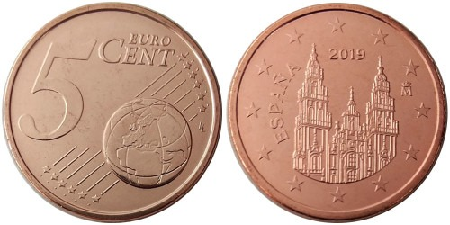 5 евроцентов 2019 Испании UNC