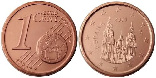 1 евроцент 2019 Испании UNC